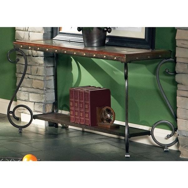 Copper Grove Swinley Elegant Tuscan Style Sofa Table