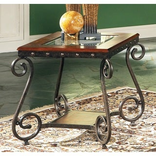 Greyson Living Este Medium Cherry End Table
