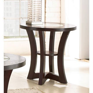 Amia Espresso Round End Table  by Greyson Living