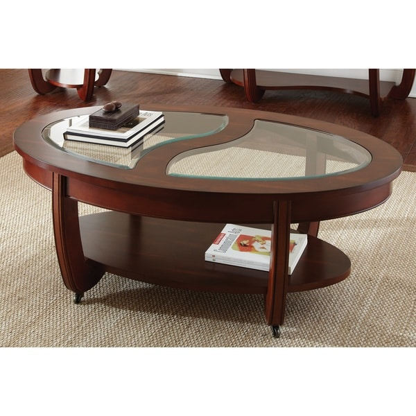 Shop Greyson Living Lancaster Cherry Oval Coffee Table