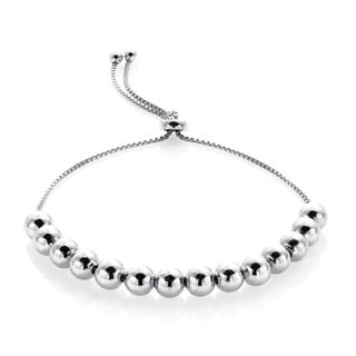 Mondevio Sterling Silver Slider Bead Bracelet (3 options available)