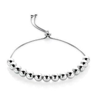 Mondevio Sterling Silver Slider Bead Bolo Adjustable Bracelet