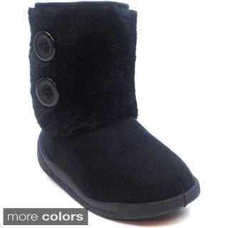 Blue Girls 'I-Moscow' Slip-on Boots (sizes 5-10)