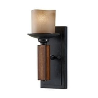 Murray Feiss Madera 1-light Antique Forged Iron/ Aged Walnut Wall Sconce (12.5-inch)