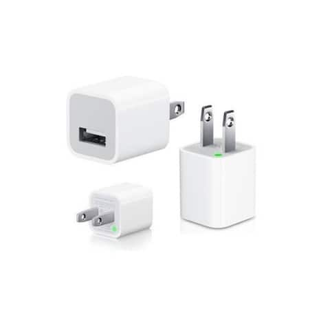Apple 5W USB Power Adapter Cube for iPhone X,8, 7, 7 Plus, 6, 6s, 6plus, 5, 5c, 7s, SE, iPad, iPod