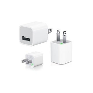 Apple 5W USB Power Adapter Cube for iPhone X,8, 7, 7 Plus, 6, 6s, 6plus, 5, 5c, 7s, SE, iPad, iPod