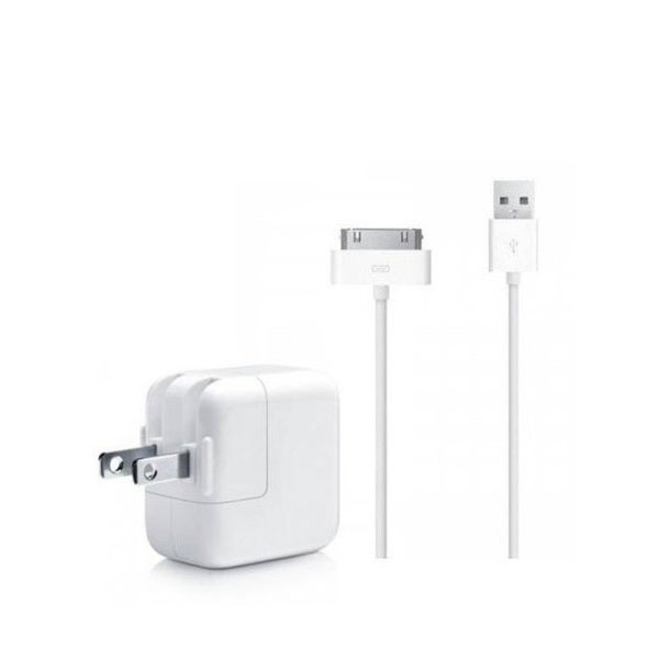 Apple OEM USB Cable Power Cord with 12W Wall Charger for Apple iPad 1/2/3, iPhone 1/2/3, 4/4S