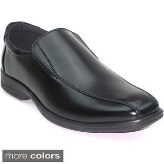 Blue Men's 'Nigel' Black Leatherette Loafers