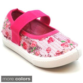 Blue Girls 'K-Jora' Floral and Sequin Mary Jane Flats|https://ak1.ostkcdn.com/images/products/9669954/P16850743.jpg?_ostk_perf_=percv&impolicy=medium
