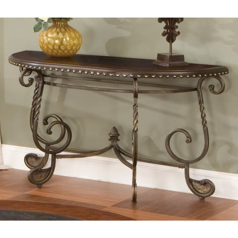 Riviera Wood and Metal Sofa Table by Greyson Living