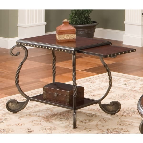 Riviera Wood And Metal Chairside End Table By Greyson Living By Greyson Living On Sale Overstock 9670086