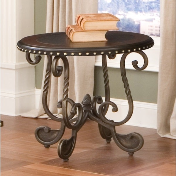 Riviera Wood And Metal Nail Head Trim End Table By Greyson Living By  Greyson Living