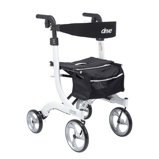 Drive Medical Nitro Euro Style Tall Walker Rollator (White)