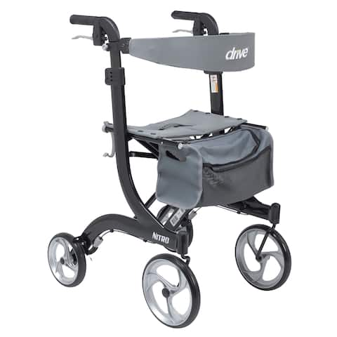 Drive Medical Nitro Euro Style Tall Walker Rollator