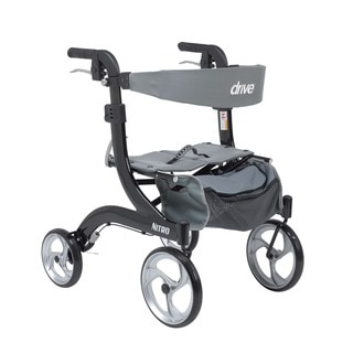 Drive Medical Nitro Hemi Height Euro Style Walker Rollator (Black)