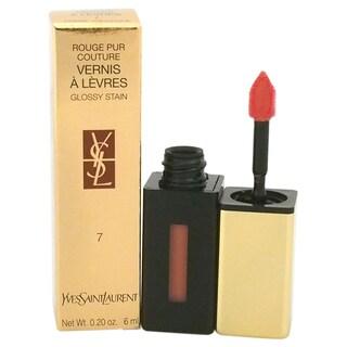 Yves Saint Laurent Rouge Pur Couture Vernis A Levres Glossy Stain #7 Corail Aquatique Lip Gloss
