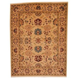 Herat Oriental Afghan Hand-knotted Vegetable Dye Wool Rug (6'2 x 8')