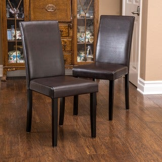 Link to Ryan Bonded Leather Dining Chair (Set of 2) by Christopher Knight Home Similar Items in Kitchen & Dining Room Chairs