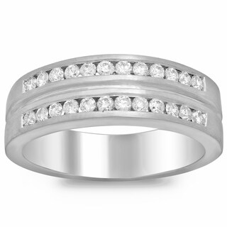 14k White Gold 4/5ct TDW Diamond Men's Ring (F-G, SI1-SI2)