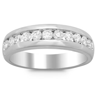 Men's 14k White Gold 7/8ct TDW Diamond Ring (F-G, SI1-SI2)