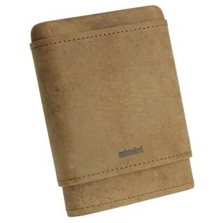 Adorini Brown Leather Travel Cigar Case 3-5 Finger