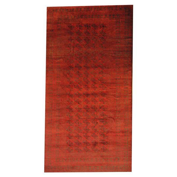 Handmade Herat Oriental Semi-antique Afghan Tribal Balouchi Red/ Black Wool Rug - 7'7 x 15' (Afghanistan)