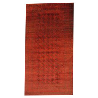 Herat Oriental Semi-antique Afghan Hand-knotted Tribal Balouchi Red/ Black Wool Rug (7'7 x 15')