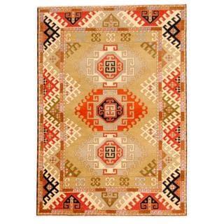 Herat Oriental Indo Hand-knotted Tribal Kazak Wool Rug (5'9 x 8')