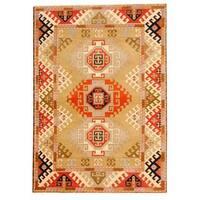 Herat Oriental Indo Hand-knotted Tribal Kazak Wool Rug - 5'9 x 8'