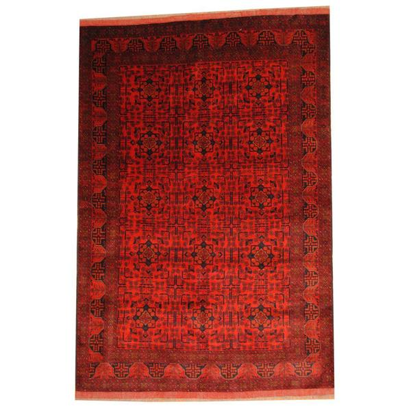 Herat Oriental Afghan Hand-knotted Tribal Khal Mohammadi Wool Rug (6'8 x 9'10)