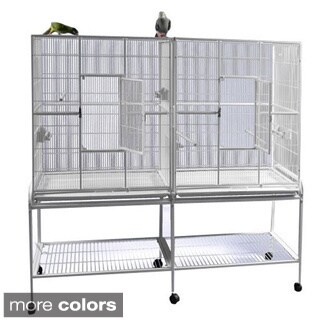 Double Flight Metal 64' x 21' Bird Cage with Removable Divider