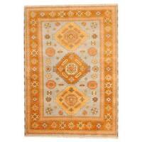 Herat Oriental Indo Hand-knotted Tribal Kazak Wool Rug (5'8 x 7'10) - 5'8 x 7'10