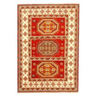 Herat Oriental Indo Hand-knotted Tribal Kazak Wool Rug (4'8 x 6'8)