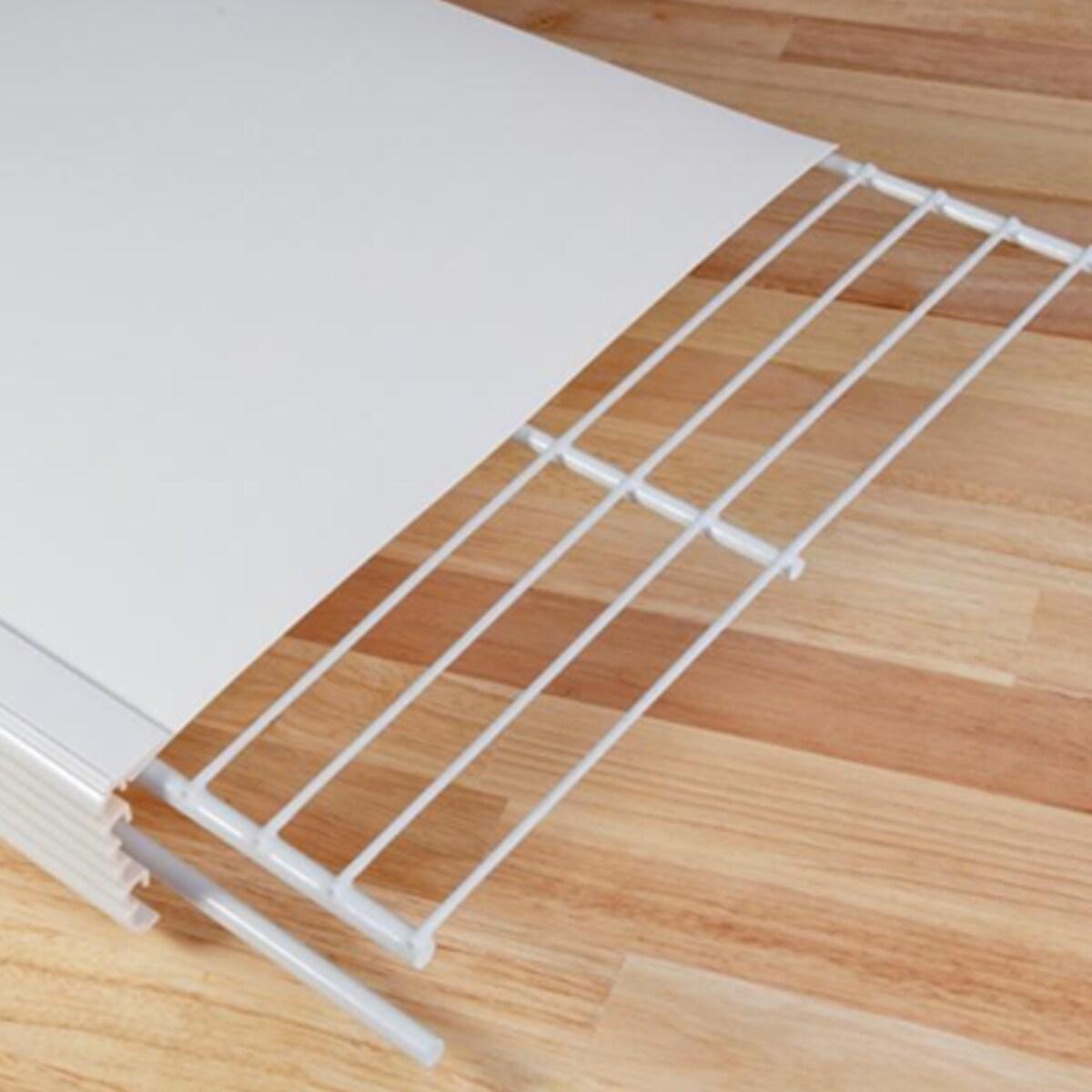 Groovy Help Myshelf 20 Inch Wire Shelf Cover And Liner Kit For 3 Shelves Home Remodeling Inspirations Gresiscottssportslandcom