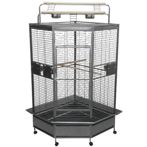 Large 32-inch Corner Bird Cage