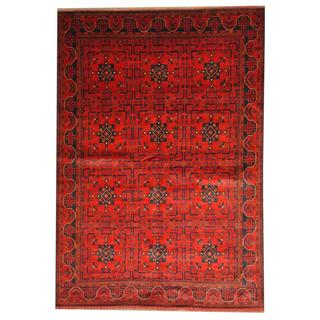 Herat Oriental Afghan Hand-knotted Tribal Khal Mohammadi Wool Rug (6'8 x 9'7)