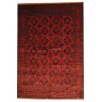 Handmade Herat Oriental Afghan Tribal Khal Mohammadi Wool Rug (Afghanistan) - 6'8 x 9'7