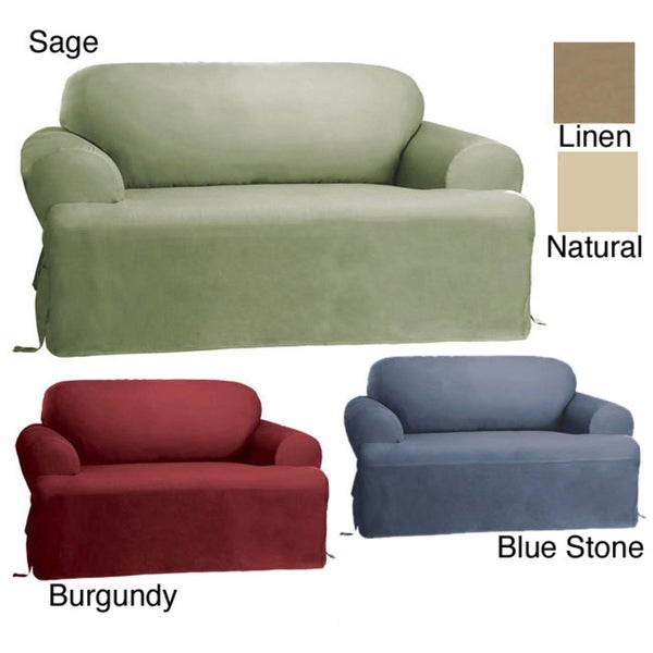 Shop Sure Fit Cotton Classic T Cushion Sofa Slipcover In