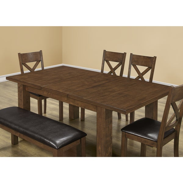Walnut Veneer 42 X 60 78 Inch Dining Table