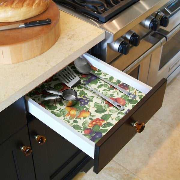 Kitchen Shelf Liner Reviews: Shop Con-Tact Brand Grip Prints Non-Adhesive Non-Slip