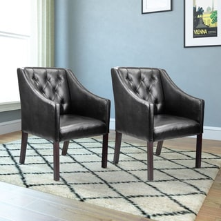 CorLiving Antonio Bonded Leather Accent Club Chair (Set of 2)