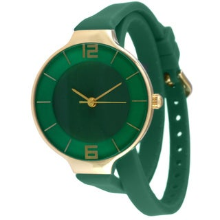 TKO TK645 Women's Green Double Wrap Silicon Analog Display Quartz Watch