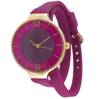 TKO TK645 Women's Purple Double Wrap Silicon Analog Display Quartz Watch