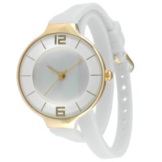 TKO TK645 Women's White Double Wrap Silicon Analog Display Quartz Watch