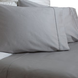 Austin Horn Classics 600 Thread Count Grey Dobby Supima Cotton Sheet Set