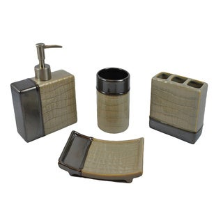 Sherry Kline 'It's A Croc' Granite 4-piece Bath Accessory Set