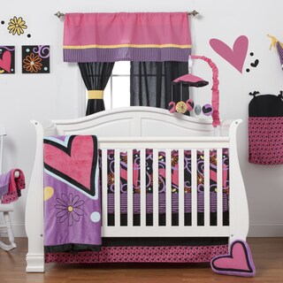 Sassy Shaylee Pink 8-piece Crib Bedding Set