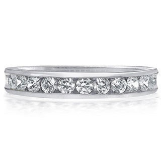 Amore Platinum 1/2ct TDW 11-Stone Channel Set Diamond Wedding Band (G-H, SI1-SI2)