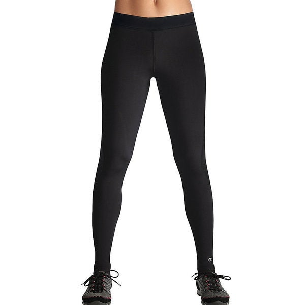 b26b90472dcf Shop Champion Women s PowerTrain Double Dry Absolute Workout Fitted Tights  - Free Shipping On Orders Over  45 - Overstock - 9670669
