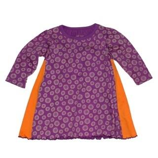 Tumblewalla Girls' Budding Pods Organic Twirl Dress